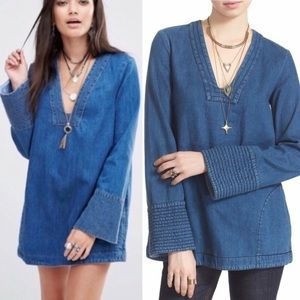 Free People Dreaming of Denim tunic, size XS